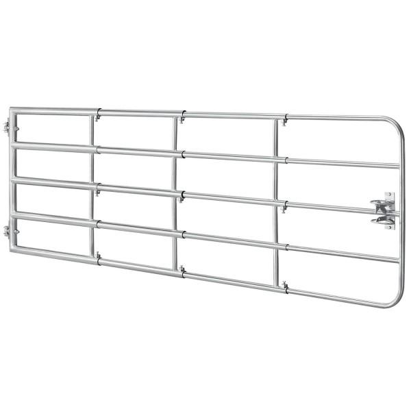 Weidezauntor SafeGate M aus verzinktem Stahl, Scharniere & Riegel - 300 x 90 cm