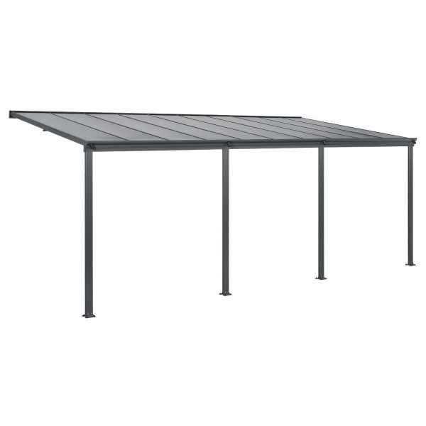 aluminium terrassendach borneo 6x3m mit doppelsteg platten. Black Bedroom Furniture Sets. Home Design Ideas
