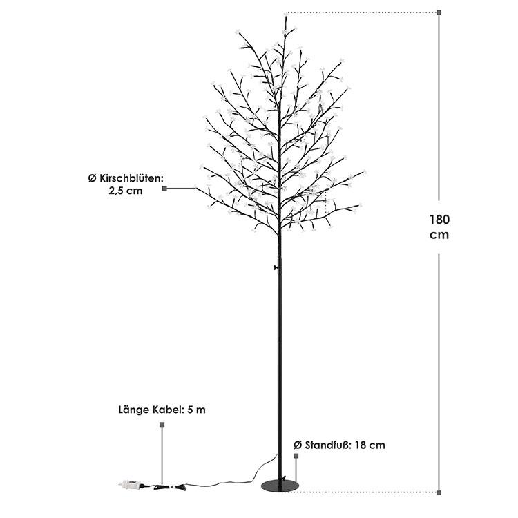 Abmessungen Kirschblüten Lichterbaum