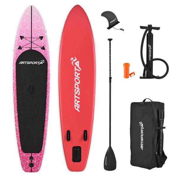 Stand Up Paddling Board Pink Blizzard aufblasbar mit Tasche & Zubehör