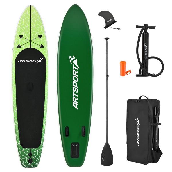 Stand Up Paddling Board Green Killer aufblasbar mit Tasche & Zubehör
