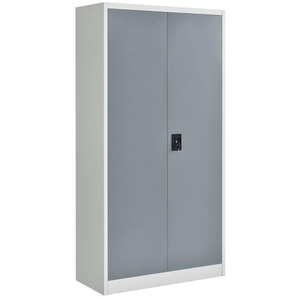 Aktenschrank Office 180x90 2-farbig mit 2 Türen aus Metall