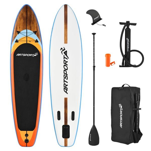 Stand Up Paddling Board Beach Rocker aufblasbar mit Tasche & Zubehör