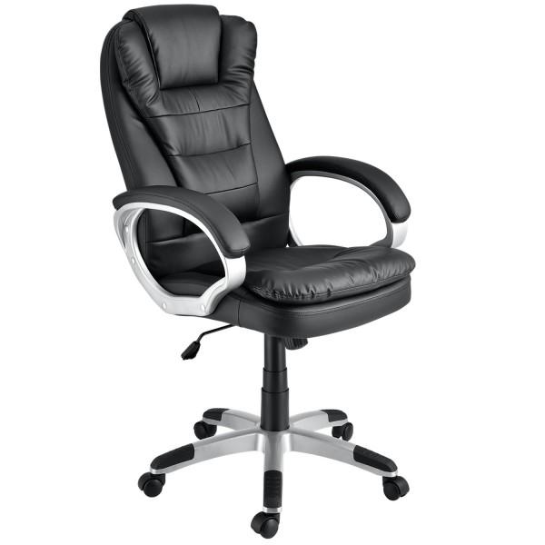 Chefsessel Bürodrehstuhl Orlando mit doppelter Polsterung - schwarz