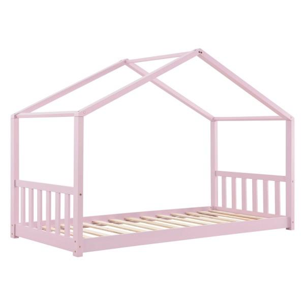 Kinderbett Paulina 90 x 200 cm mit Lattenrost in rose