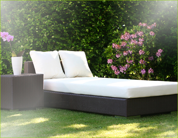gartenbett wetterfest. Black Bedroom Furniture Sets. Home Design Ideas
