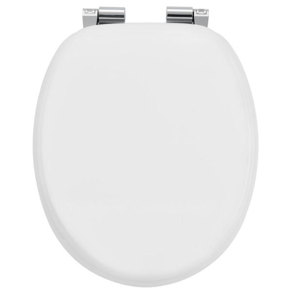 WC-Sitz Toilettensitz White aus MDF mit Absenkautomatik