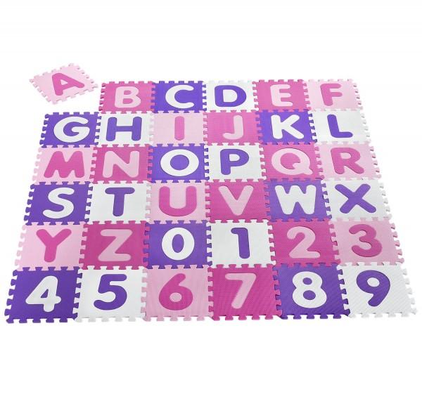 Kinder Puzzlematte Juna 36 -teilig A bis Z und 0 bis 9