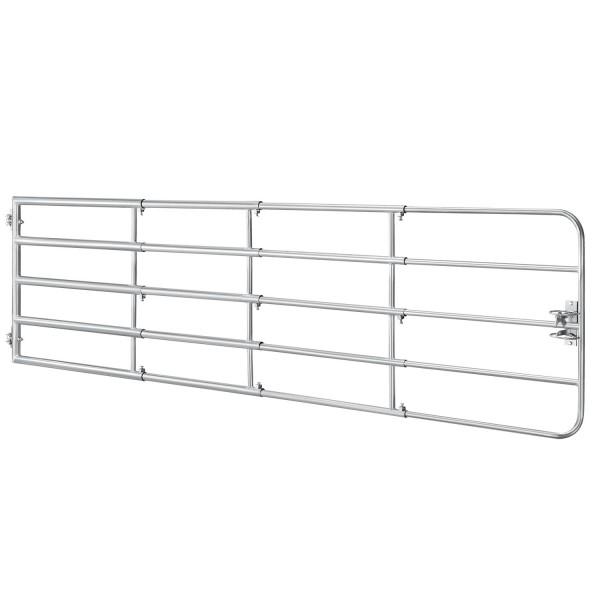 Weidezauntor SafeGate L aus verzinktem Stahl, Scharniere & Riegel - 400 x 90 cm