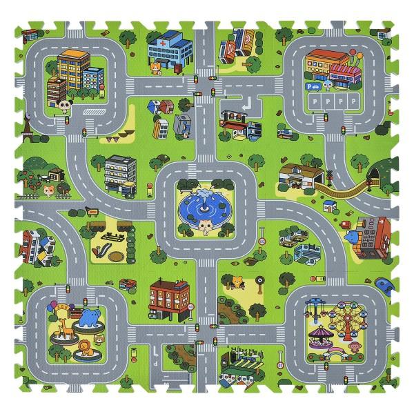 Kinder Puzzlematte Jascha 9 -teilig Straßen