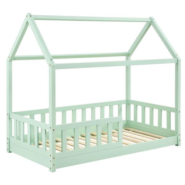 Kinderbett Marli 80 x 160 cm mit Lattenrost in mint
