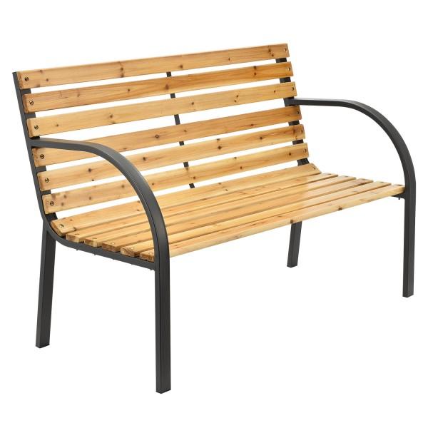 2 Sitzer Gartenbank Modena aus lackiertem Holz und Stahl