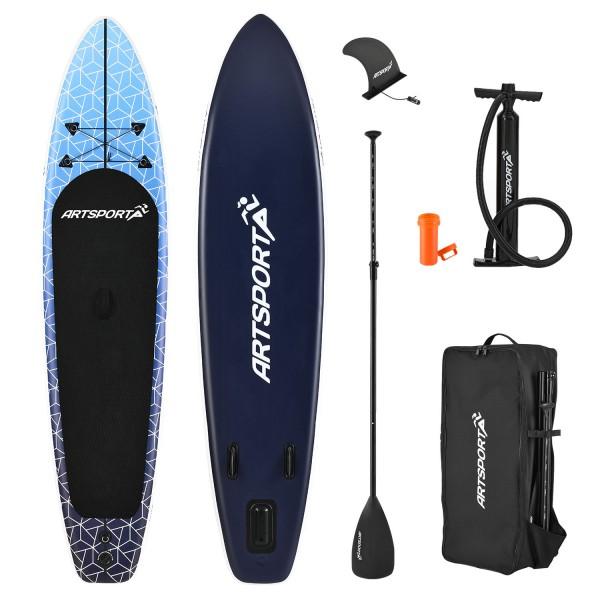 Stand Up Paddling Board Deep Ocean aufblasbar mit Tasche & Zubehör