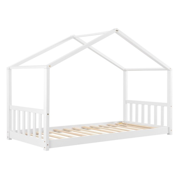 Kinderbett Paulina 90 x 200 cm mit Lattenrost in weiß