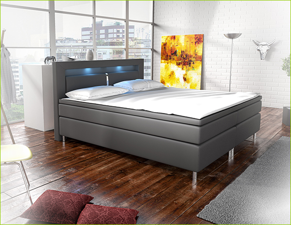 boxspringbett 140 x 200 cm g nstig online kaufen juskys. Black Bedroom Furniture Sets. Home Design Ideas