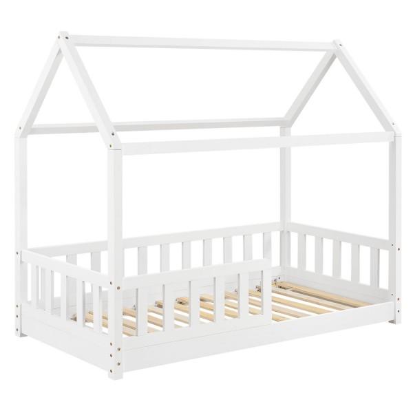 Kinderbett Marli 80 x 160 cm mit Lattenrost in weiß
