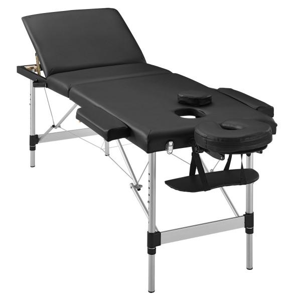 Massageliege Aluminiumgestell (schwarz) 180 x 60 cm