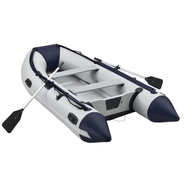 Schlauchboot Paddelboot grau mit Aluboden und zwei Sitzbänken - 3,20m