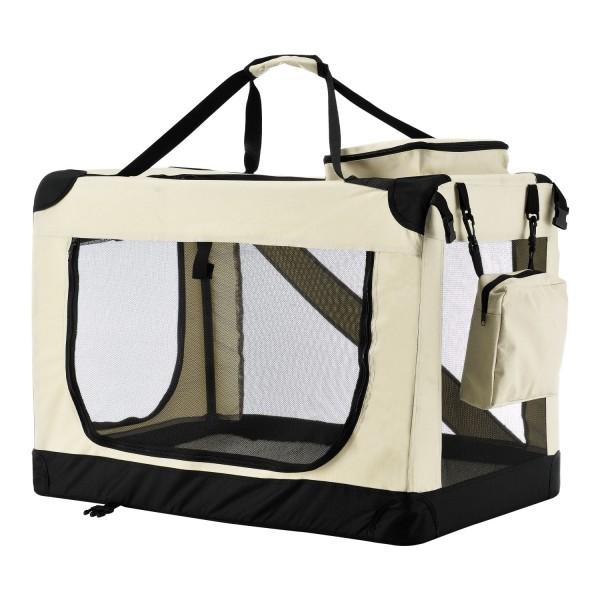 faltbare Hundetransportbox Lassie M (beige)