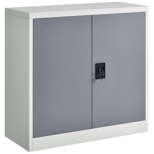 Aktenschrank Office 90x90 2-farbig mit 2 Türen aus Metall