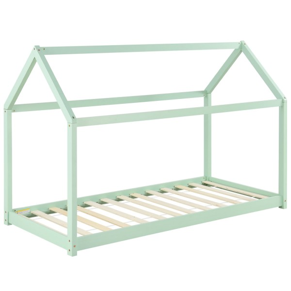 Kinderbett Carlotta 90 x 200 cm mit Lattenrost in mint