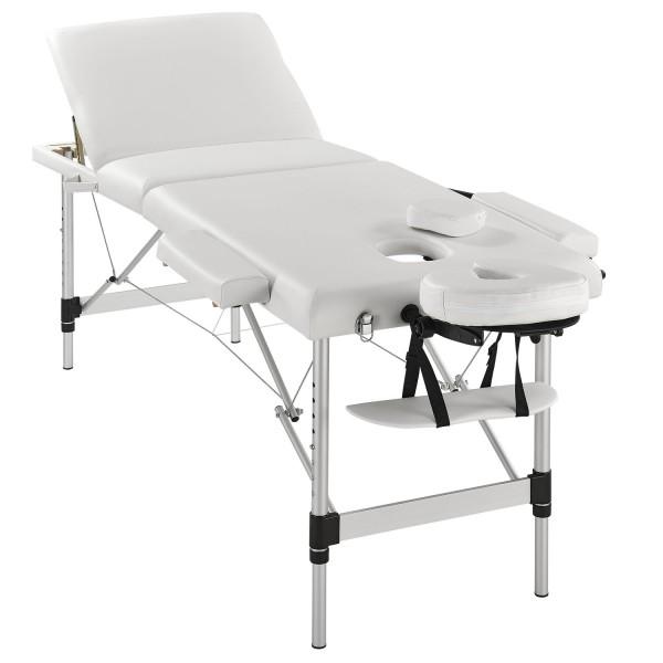 Massageliege Aluminiumgestell (weiss) 180 x 60 cm