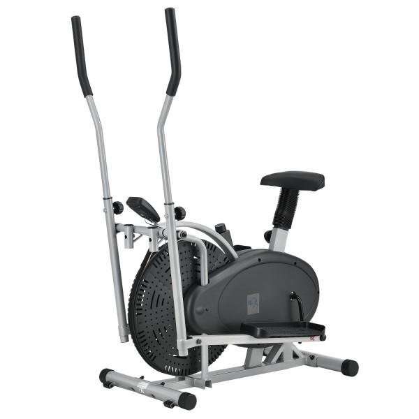 2 in 1 Crosstrainer und Ergometer Fitnessgerät