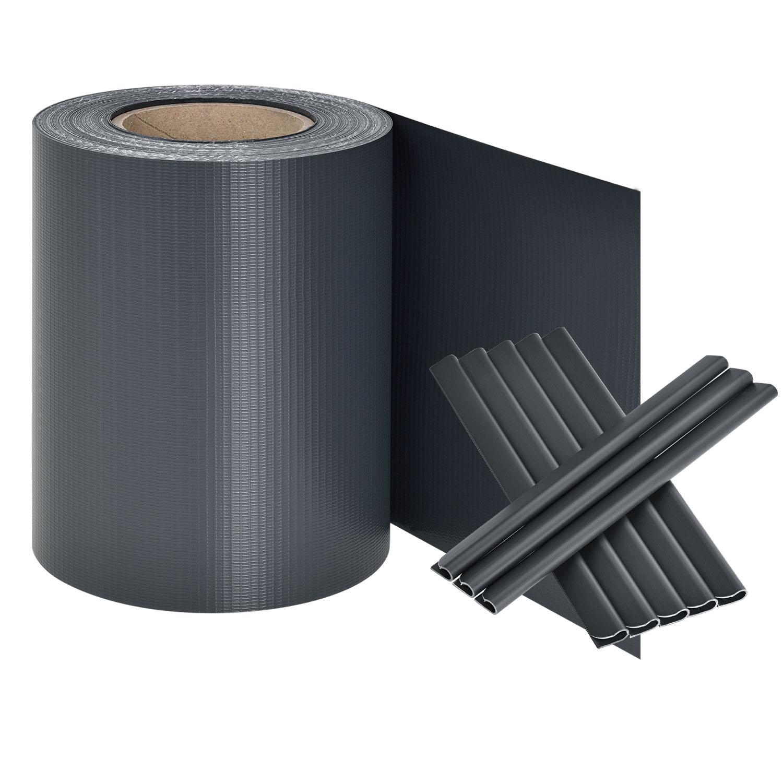 pvc sichtschutzstreifen anthrazit. Black Bedroom Furniture Sets. Home Design Ideas
