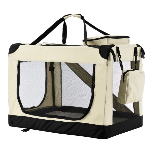 faltbare Hundetransportbox Lassie XL (beige)