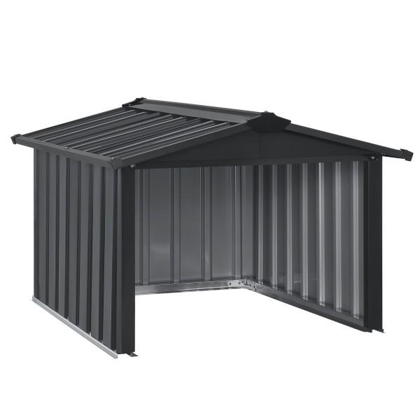 Mähroboter Garage MGMT1 aus Metall mit Satteldach in anthrazit