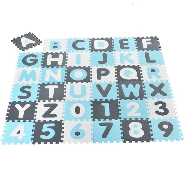 Kinder Puzzlematte Noah 36 -teilig A bis Z und 0 bis 9