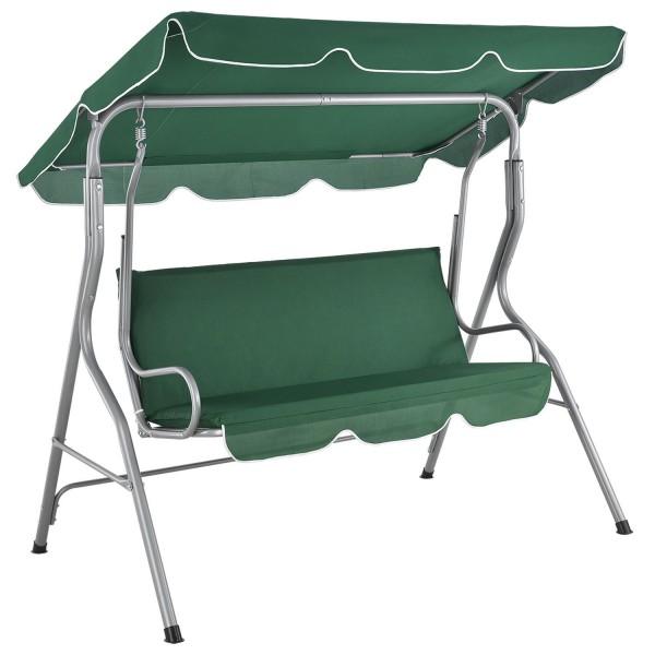 Hollywoodschaukel Cecina 3-Sitzer beschichtetes Stahlgestell in grün