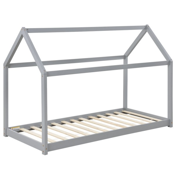 Kinderbett Carlotta 90 x 200 cm mit Lattenrost in grau