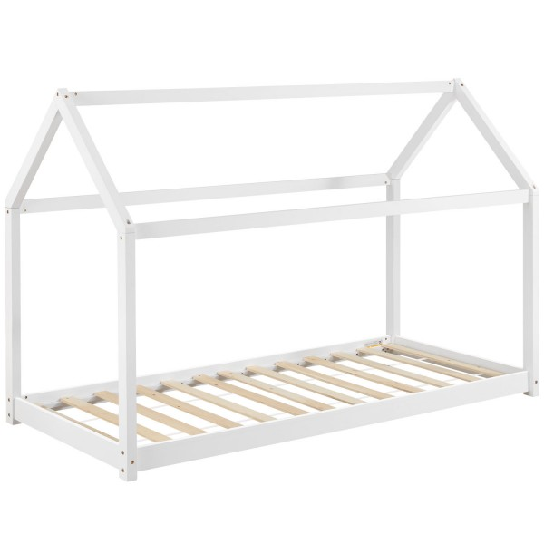 Kinderbett Carlotta 90 x 200 cm mit Lattenrost in weiß