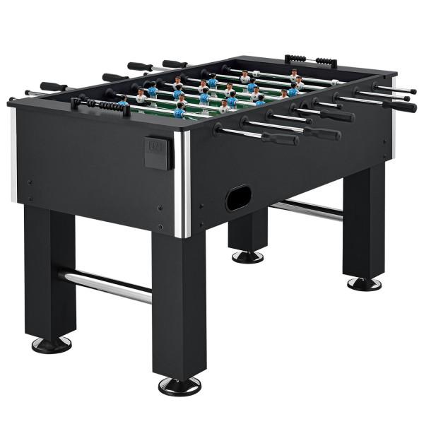 Tischkicker Fussballtisch Wuzzler mit Getränkehalter in schwarz