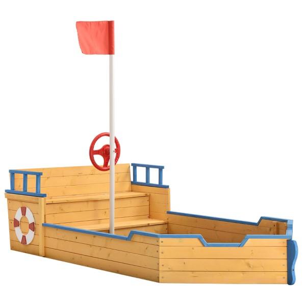 Sandkasten Käpt'n Pit - Piratenschiff Boot aus Holz