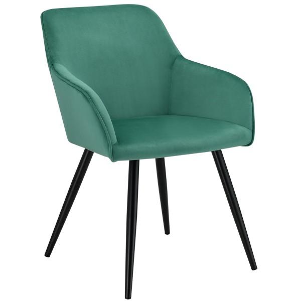 Loungesessel Tarje mit Samtbezug in grün