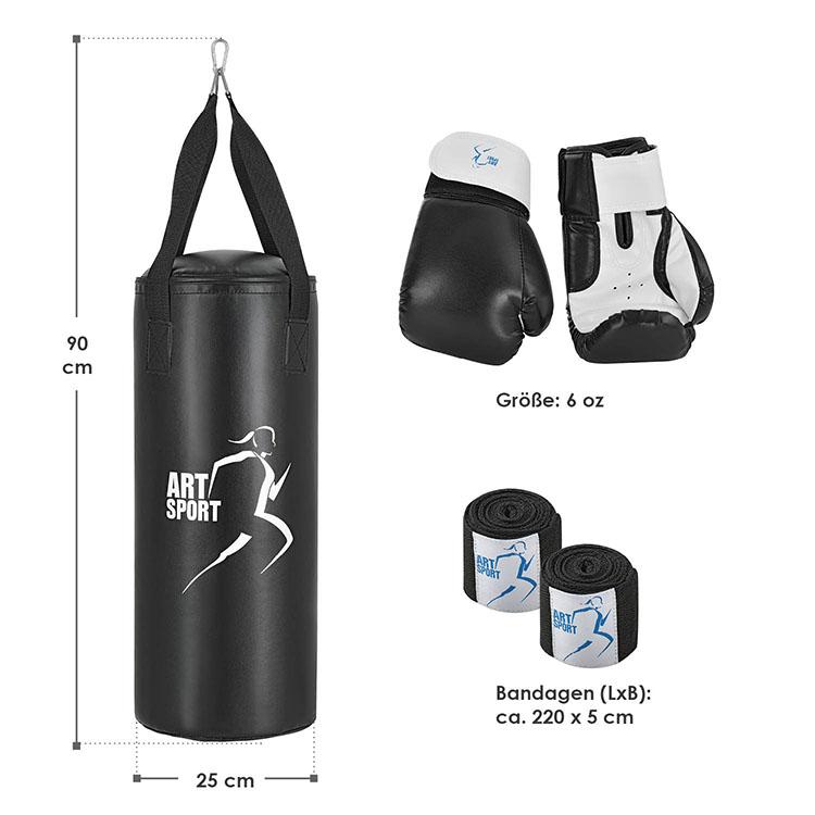 Abmessungen Boxsack Set 10 kg für Kinder