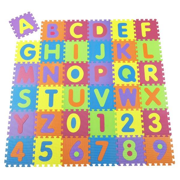 Kinder Puzzlematte Kim 36 -teilig A bis Z und 0 bis 9