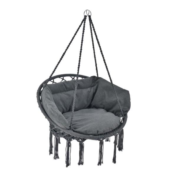 Hängesessel Cadras in anthrazit mit Sitz- und Rückenkissen
