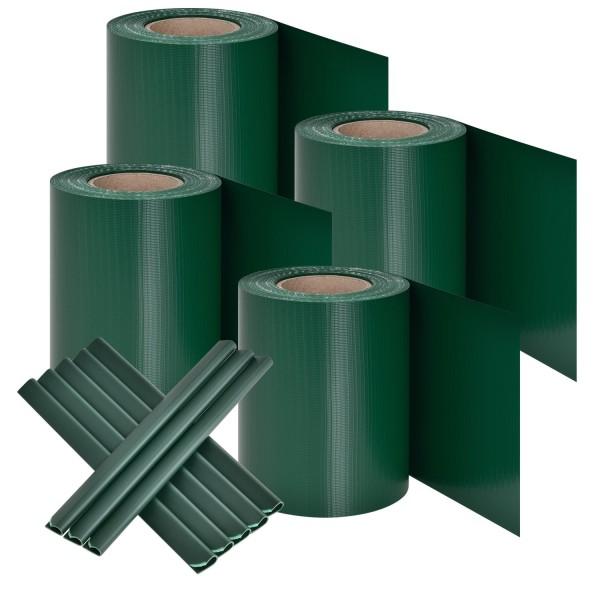 PVC Sichtschutzstreifen 4er Set - grün