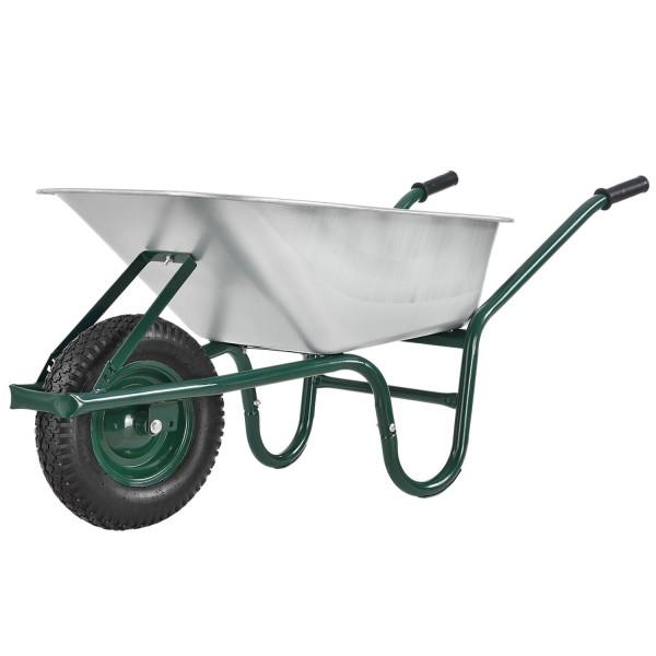 Schubkarre Garden100L mit verzinkter Wanne und Luftreifen bis 210kg