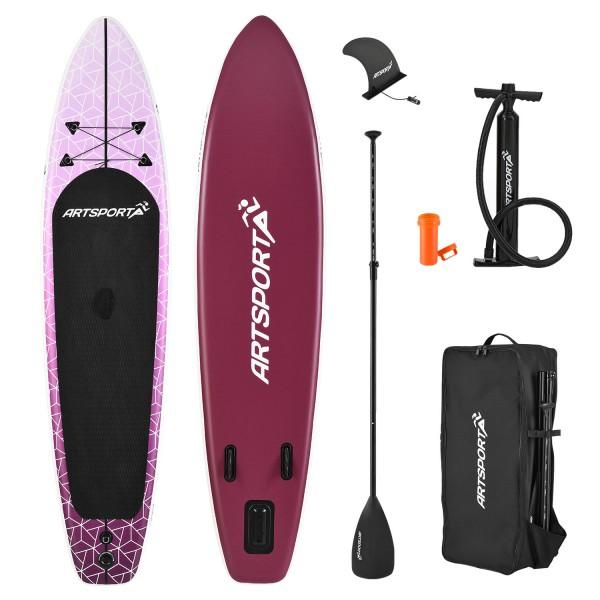Stand Up Paddling Board Purple Rain aufblasbar mit Tasche & Zubehör